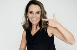 women with invisalign aligners